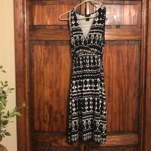 Black and white Ann taylor dress size small